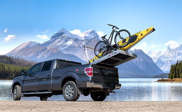 Upslide expandable truckbed organizer industrial design