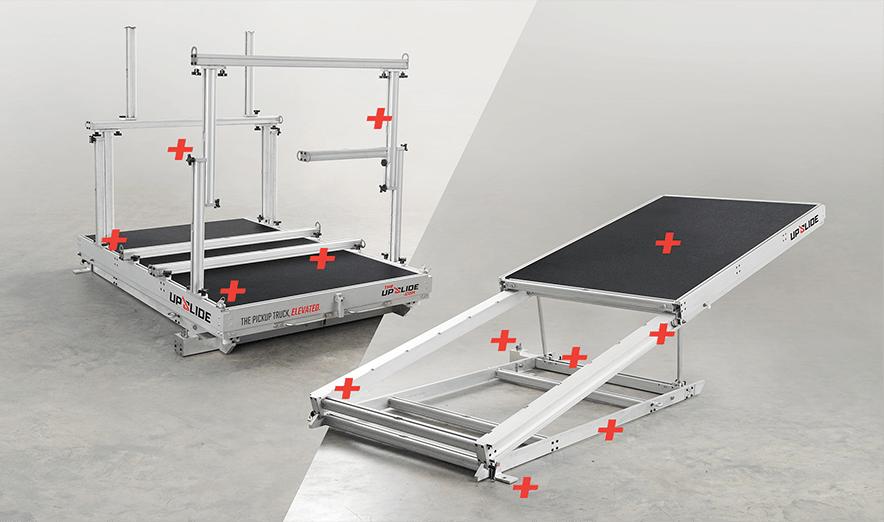 Upslide mechanical product development for truckbed