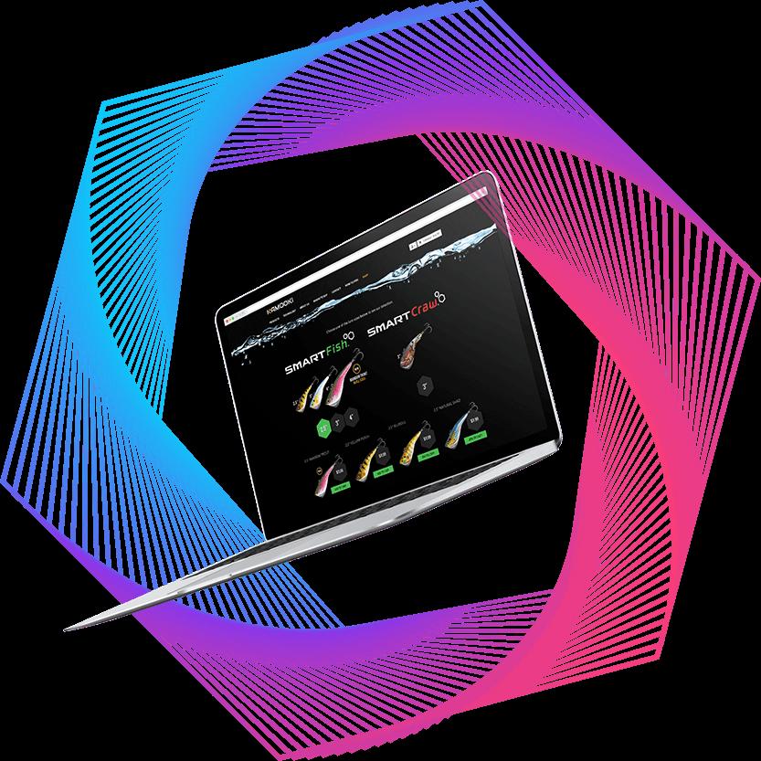 Hexagon vortex decorative shape