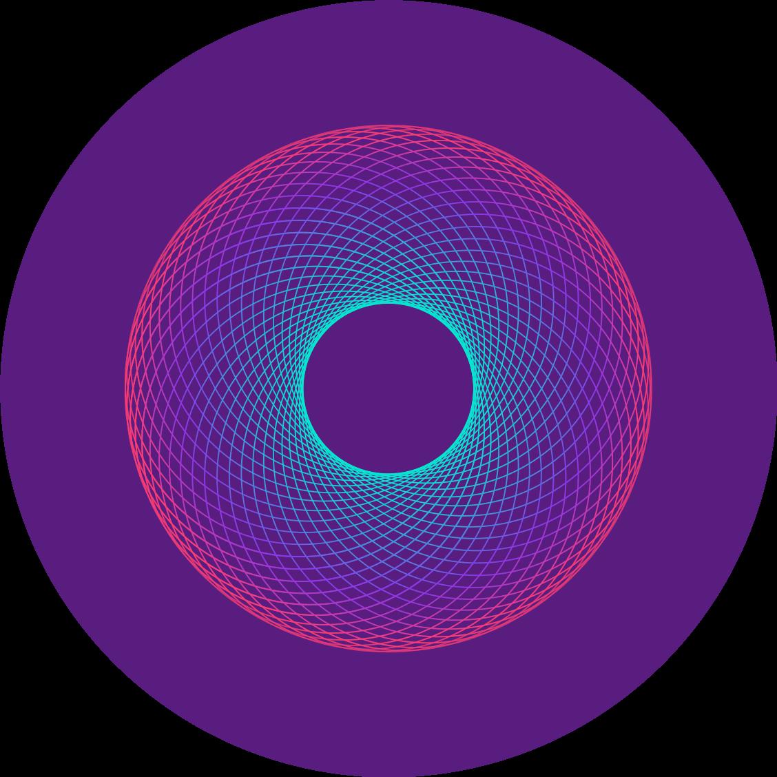 Vortex decorative shape